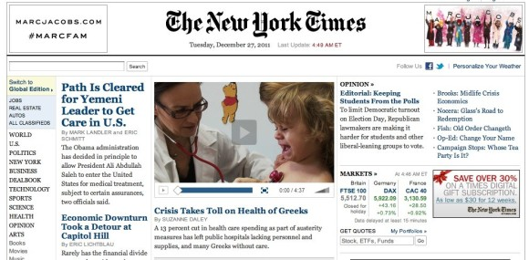 New York Times - Front Page