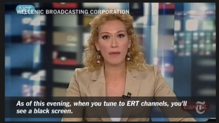 The New York Times - Greek Broadcaster is shut down